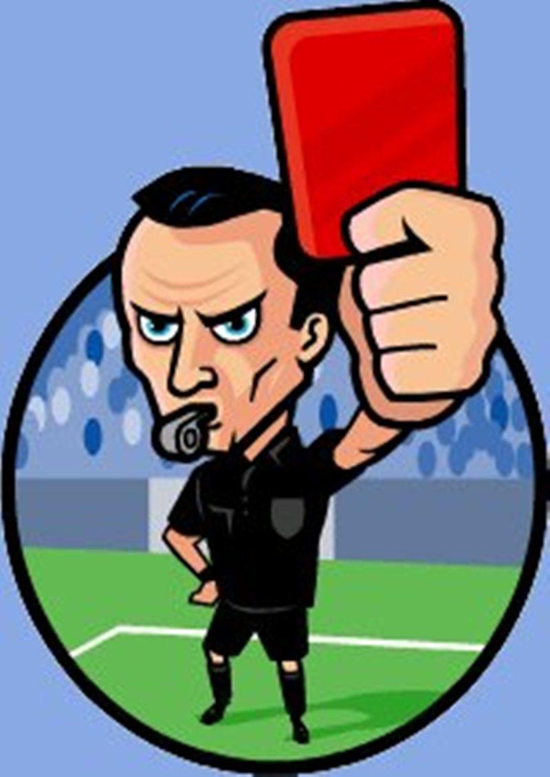 Image result for tarjeta roja en el futbol
