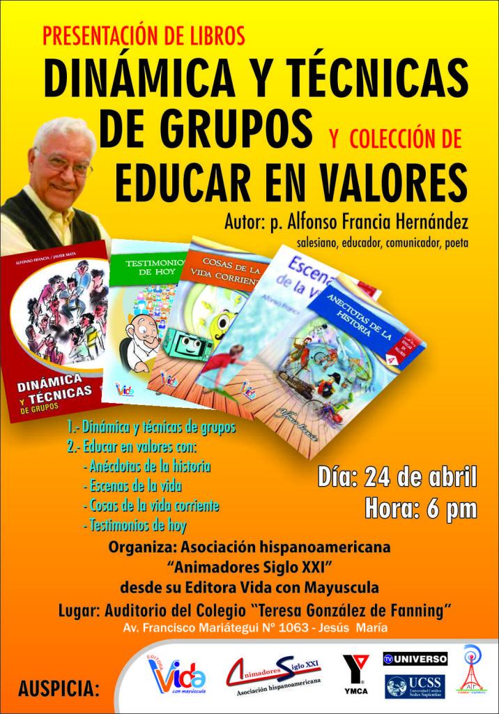 afiche presentacion libros