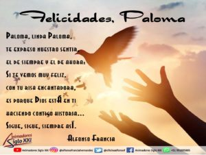 Felicidades Paloma