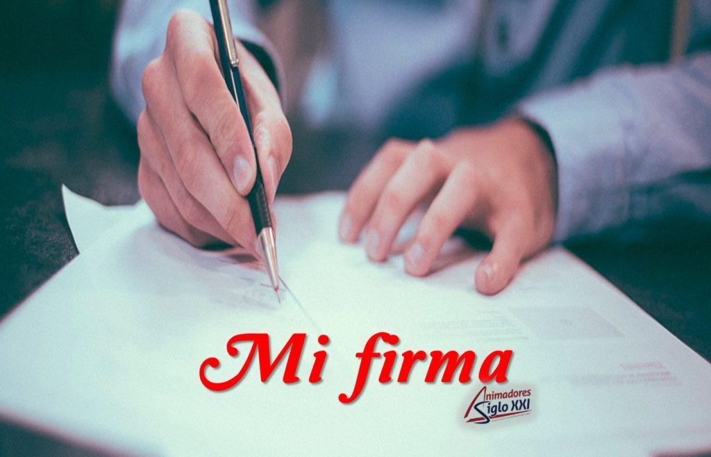 Mi firma